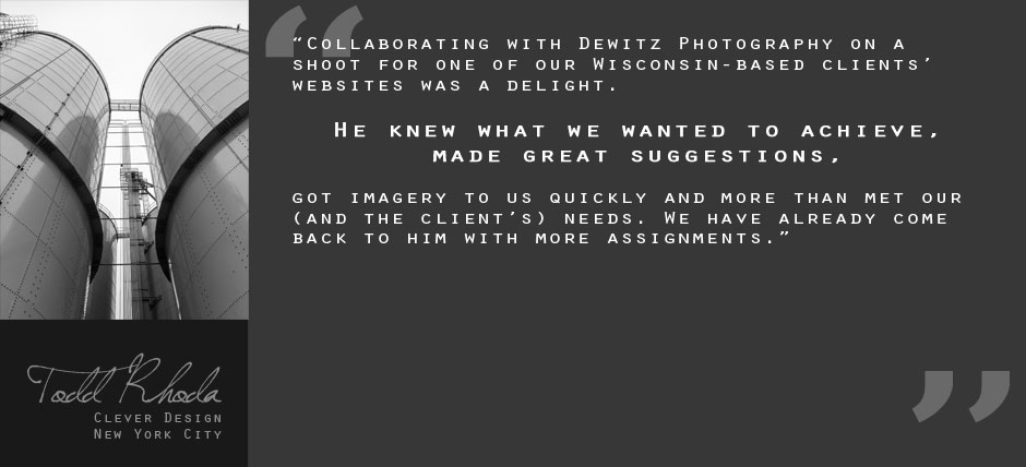 Client Testimonial Quote Gray Todd Rhoda Clever Design
