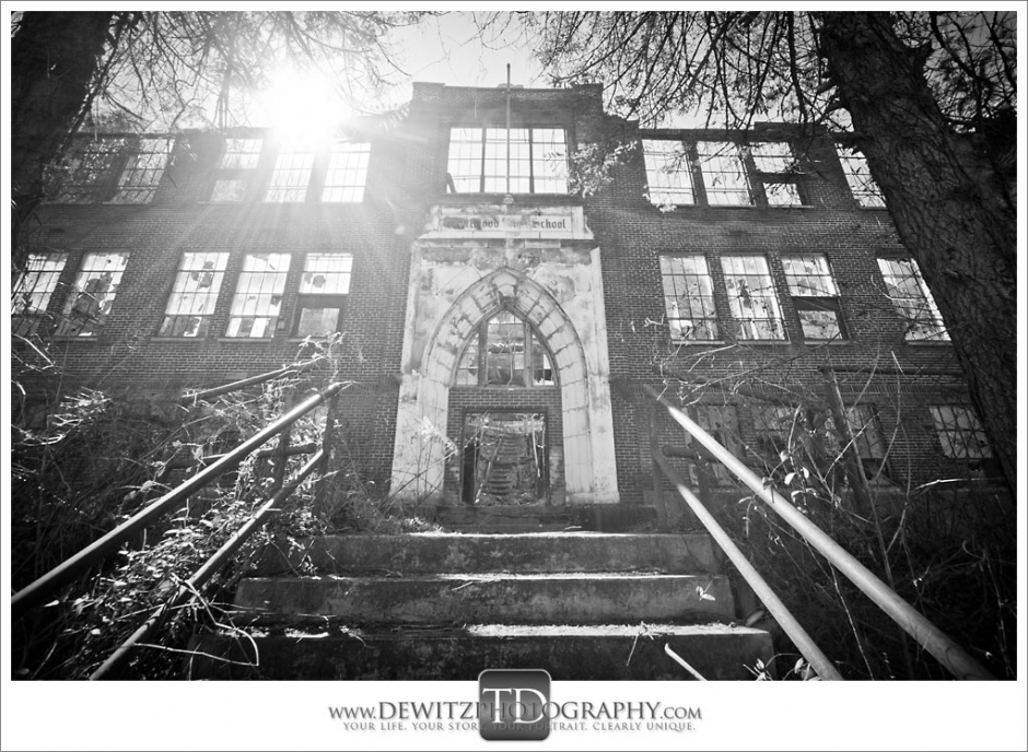 Coalwood High School Looking Up Front Steps Photograph