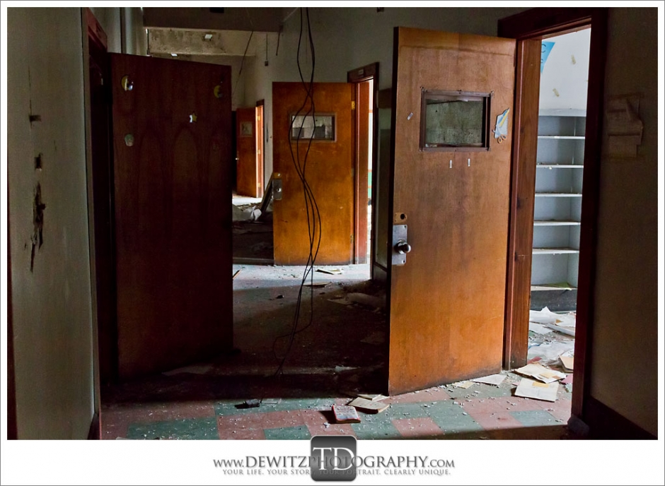 Abandoned School Hallway Switchback WV Photograph