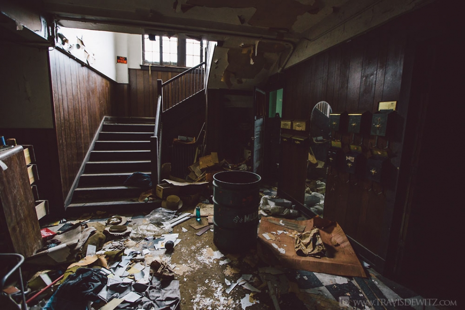 Abandoned Apartment Building Full Of Vintage Furniture In