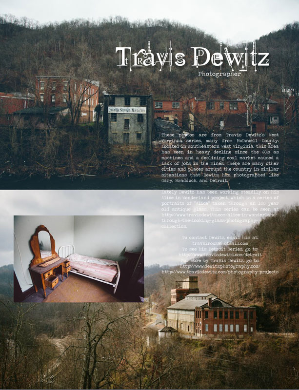 Un-sung Travis Dewitz West Virginia Photography Piece