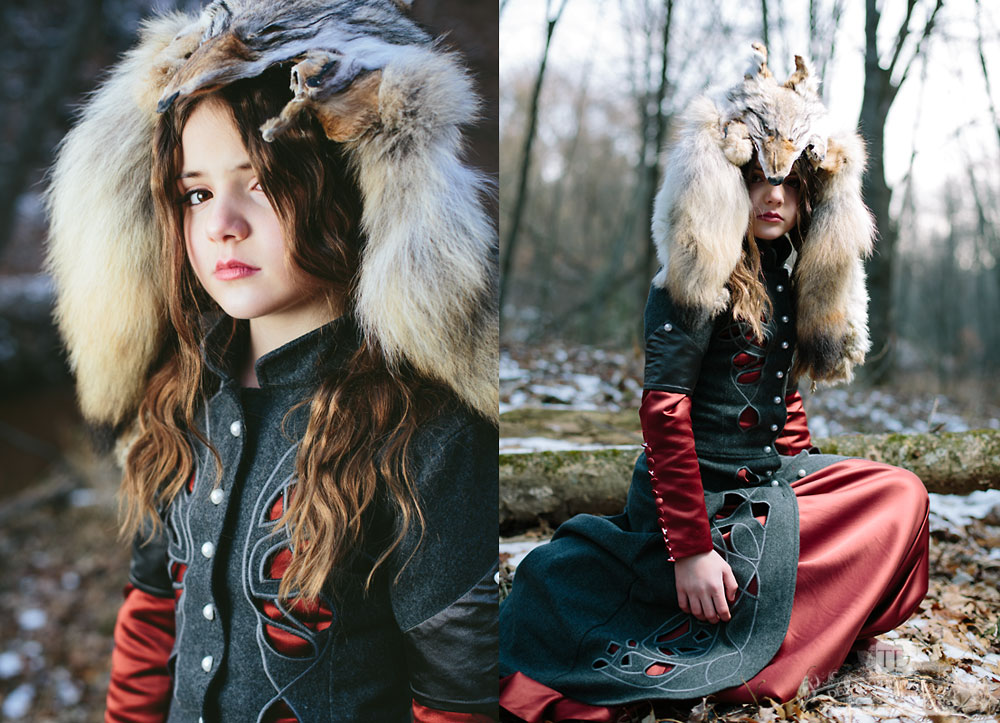Caitlin With Coyote Head Piece Set