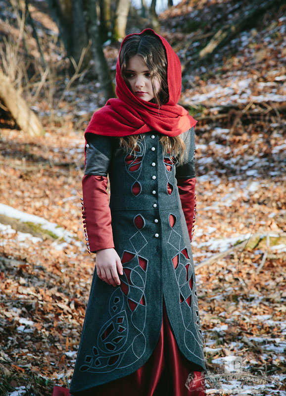 Red Riding Hood Looking Away