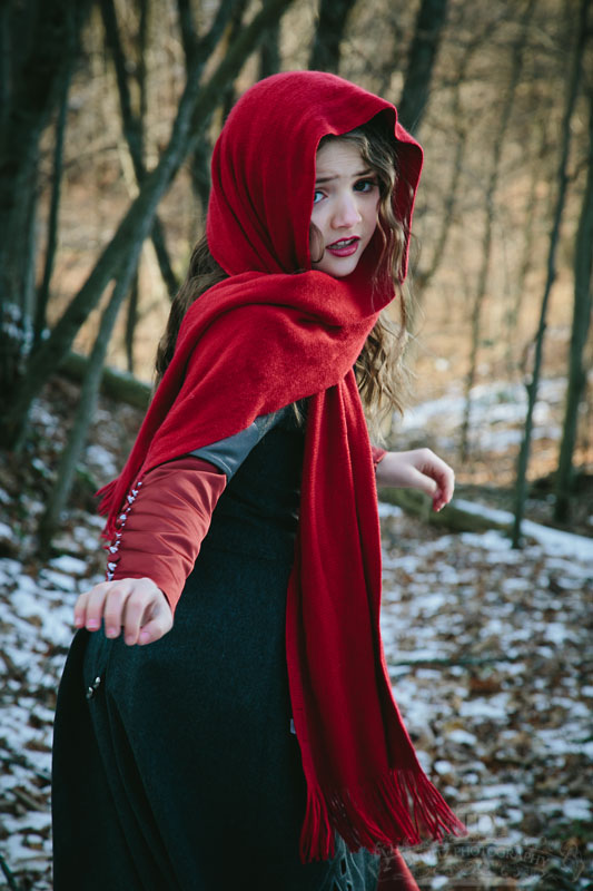 Red Riding Hood Looking Back for the Wolf