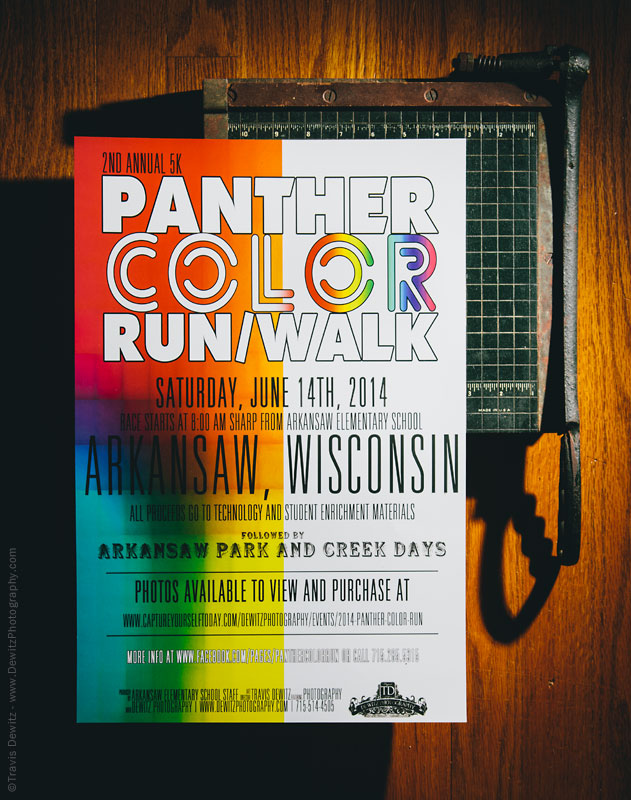 Panther Color Run Event Poster Graphic Design