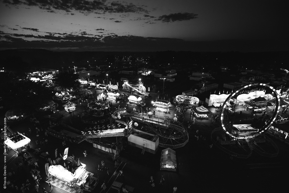 Northern Wisconsin State Fair Aerial at Night