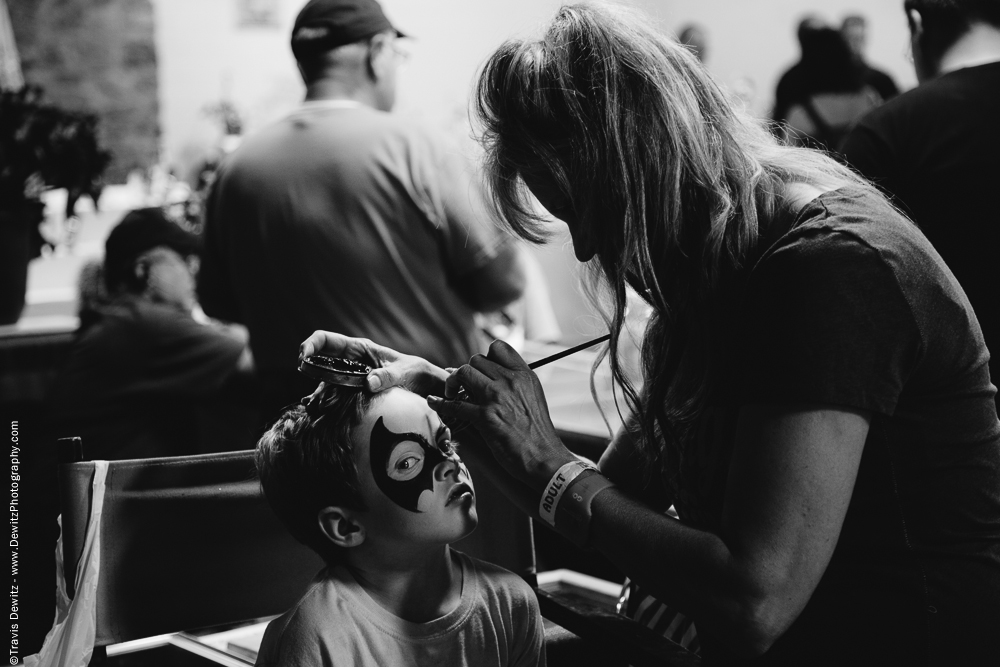 Northern Wisconsin State Fair Bat Face Paint