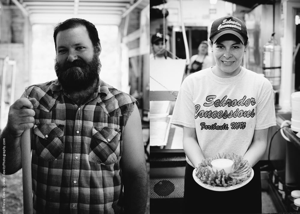 Northern Wisconsin State Fair Bearded Farmer and Schroder Concessions Blooming Onion
