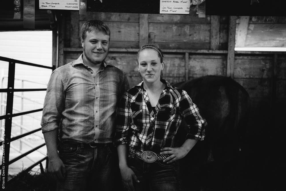 Northern Wisconsin State Fair Brother and Sister in Barn