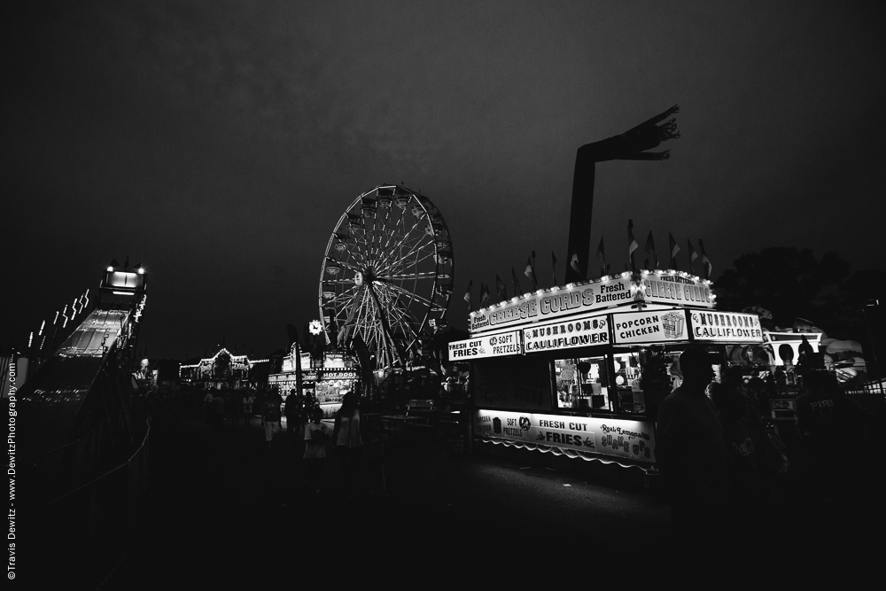 Northern Wisconsin State Fair Cheese Curd Stand and Ferris Wheel