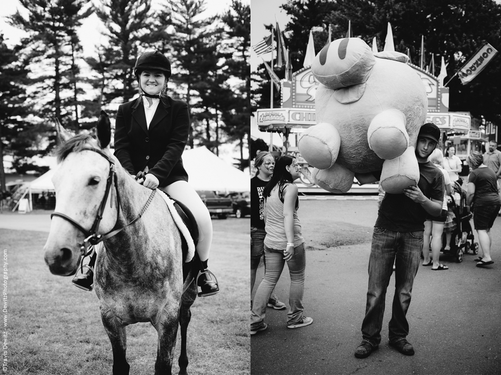 Northern Wisconsin State Fair English Horse Riding and Big Stuffed Prizes