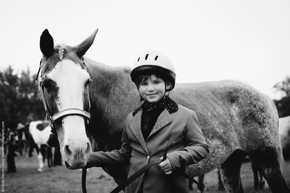 Northern Wisconsin State Fair Girl Poses With Her Horse