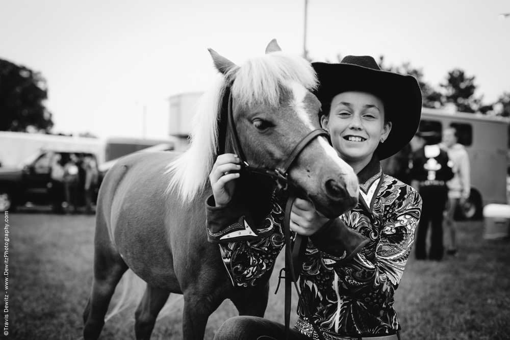 Northern Wisconsin State Fair Girl With Her Pony
