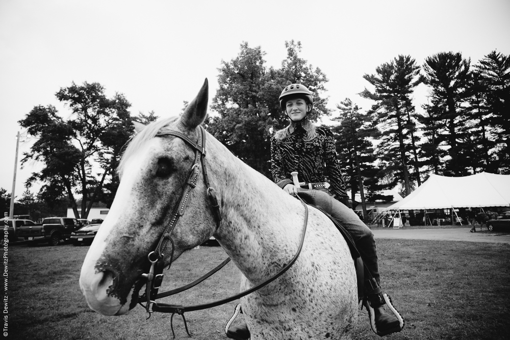 Northern Wisconsin State Fair Girl on Blind Horse