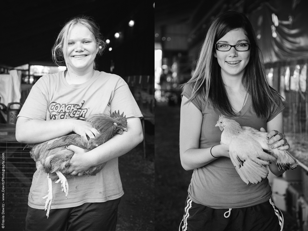 Northern Wisconsin State Fair Girls With Chickens
