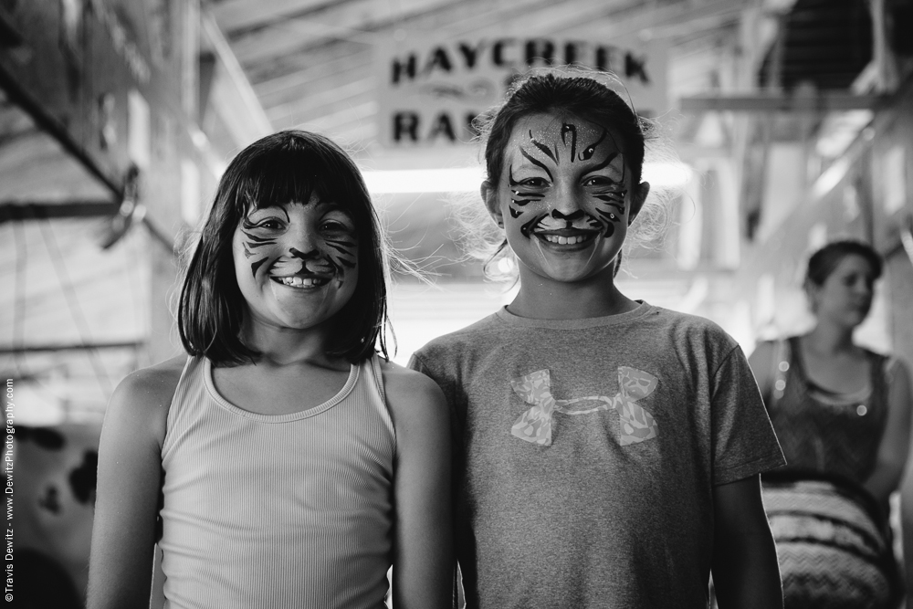Northern Wisconsin State Fair Girls With Tiger Face Paint