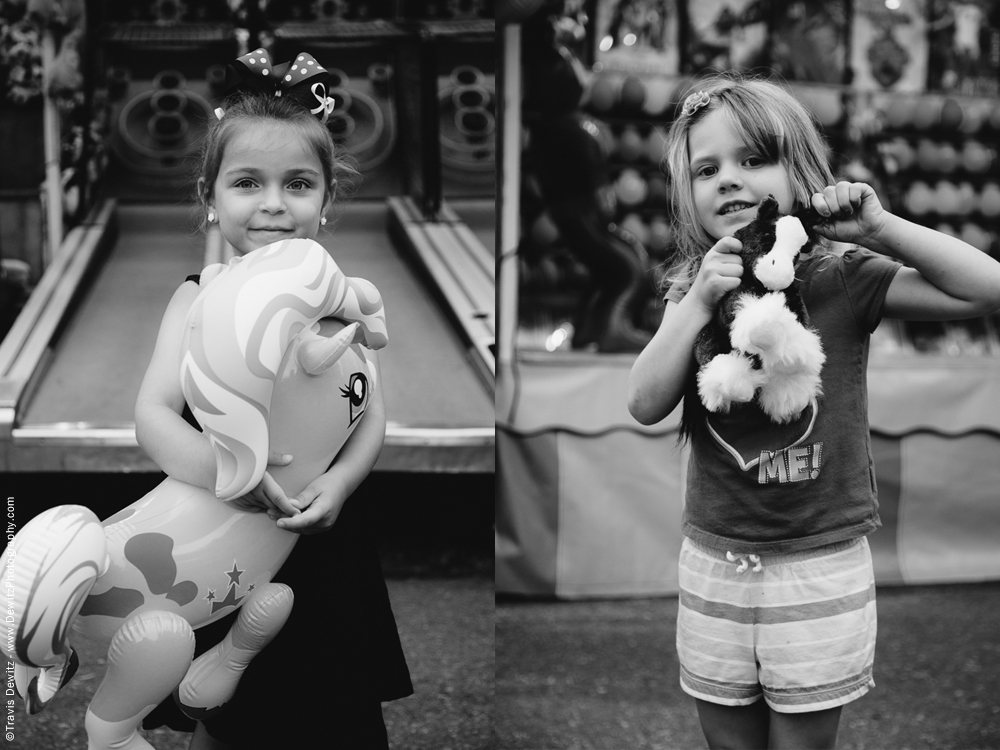 Northern Wisconsin State Fair Girls With Toy Horses