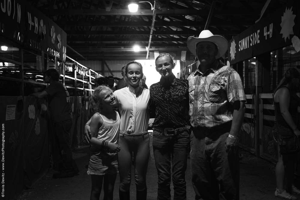 Northern Wisconsin State Fair Group in Horse Stable