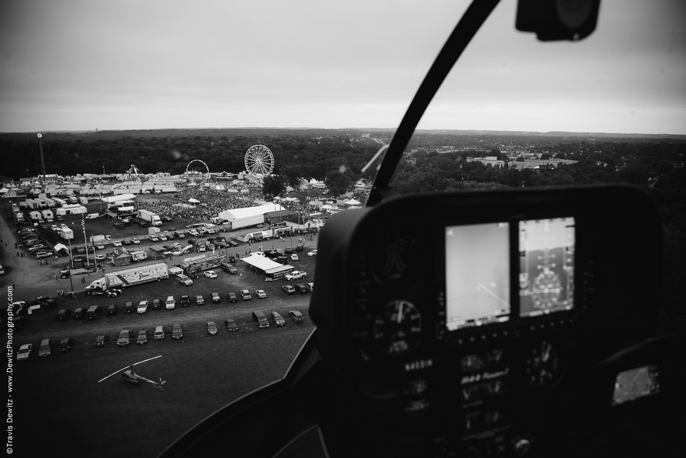 Northern Wisconsin State Fair Helicopter View Over Fair Grounds