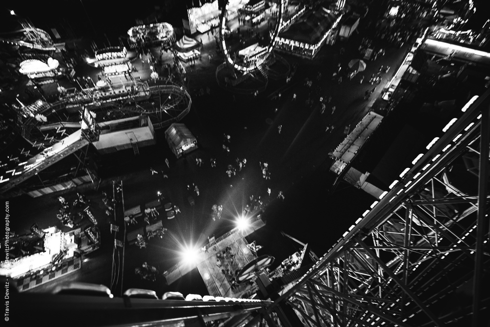 Northern Wisconsin State Fair Looking Down from the Ferris Wheel