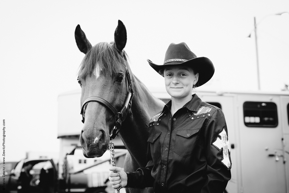 Northern Wisconsin State Fair Portrait With Her Horse