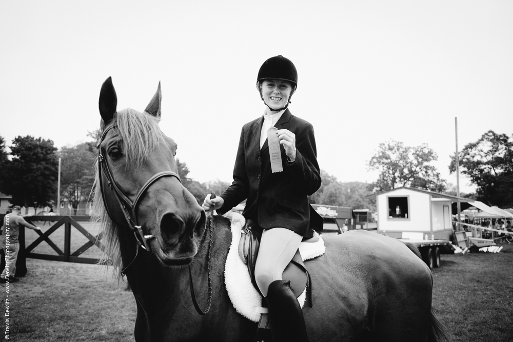 Northern Wisconsin State Fair Teen With Horse Ribbon