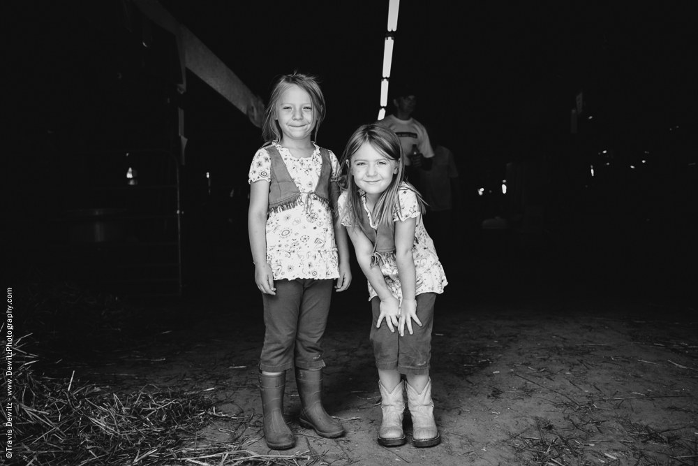 Northern Wisconsin State Fair Two Young Girls Pose