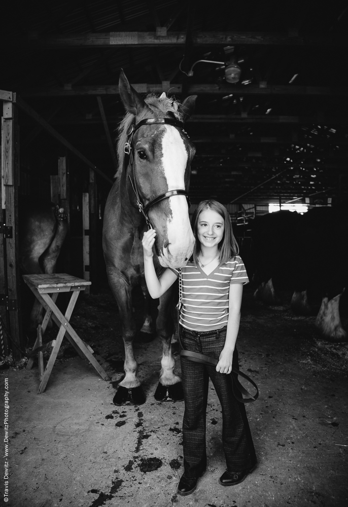 Northern Wisconsin State Fair Young Girl With Her Horse