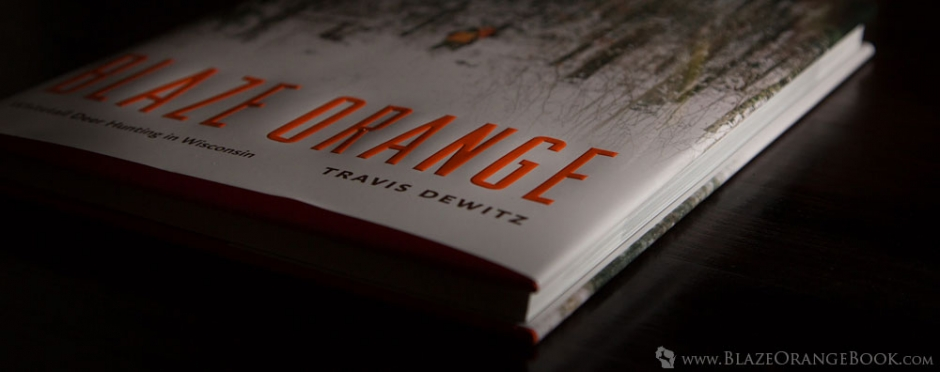 Blaze Orange Wisconsin Hunting Book- 3-4 Profile View of Cover and Pages