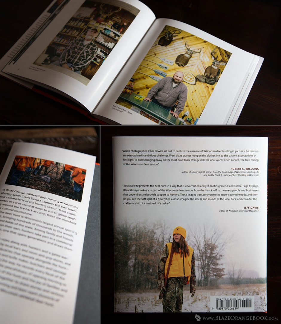 Blaze Orange Wisconsin Hunting Book- Inside Pages - Inside Cover - Back Cover With Reviews