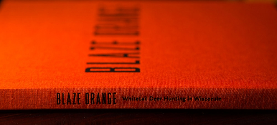 Blaze Orange Wisconsin Hunting Book- Whitetail Deer Book Spine