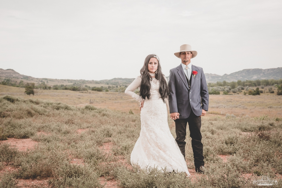 Vintage Native Bride and Groom