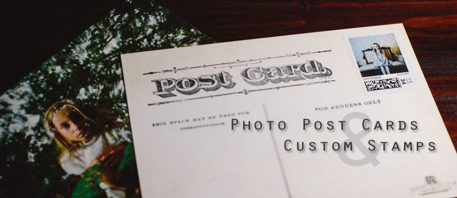 Photo Post Cards and Custom Stamps Page