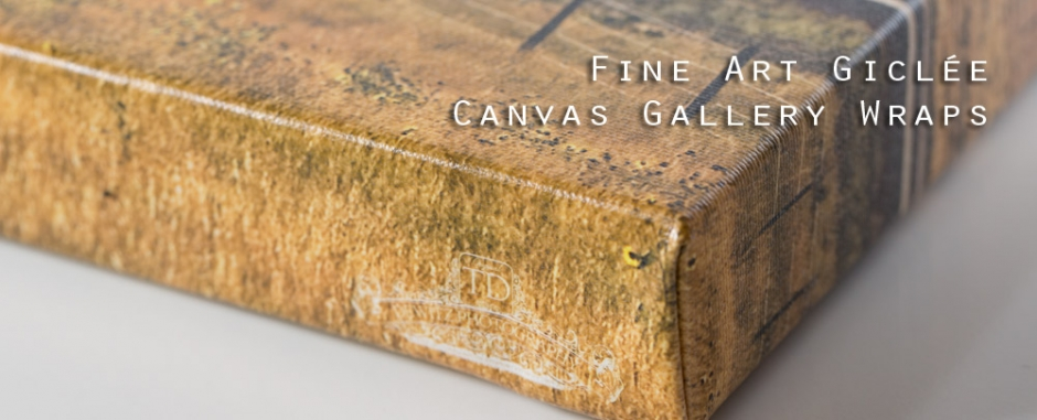 Fine Art Giclee Canvas Gallery Wraps