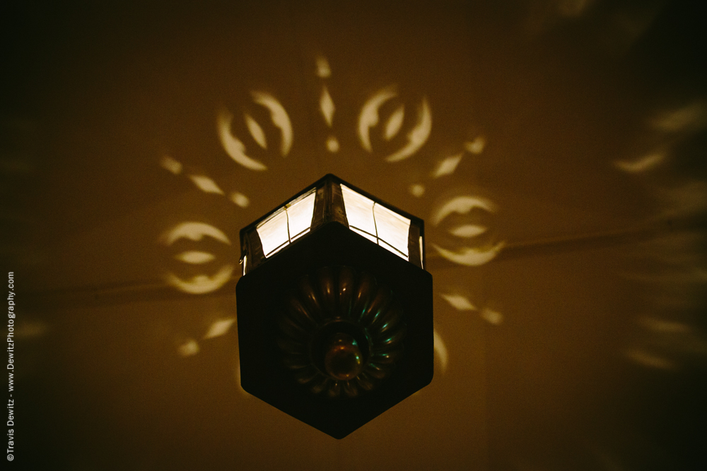 Hanging Light With Ceiling Pattern
