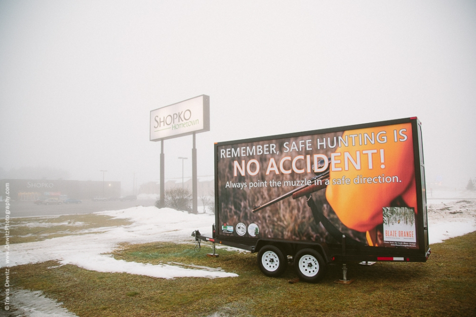 Blaze Orange DNR Billboard Outside Shopko