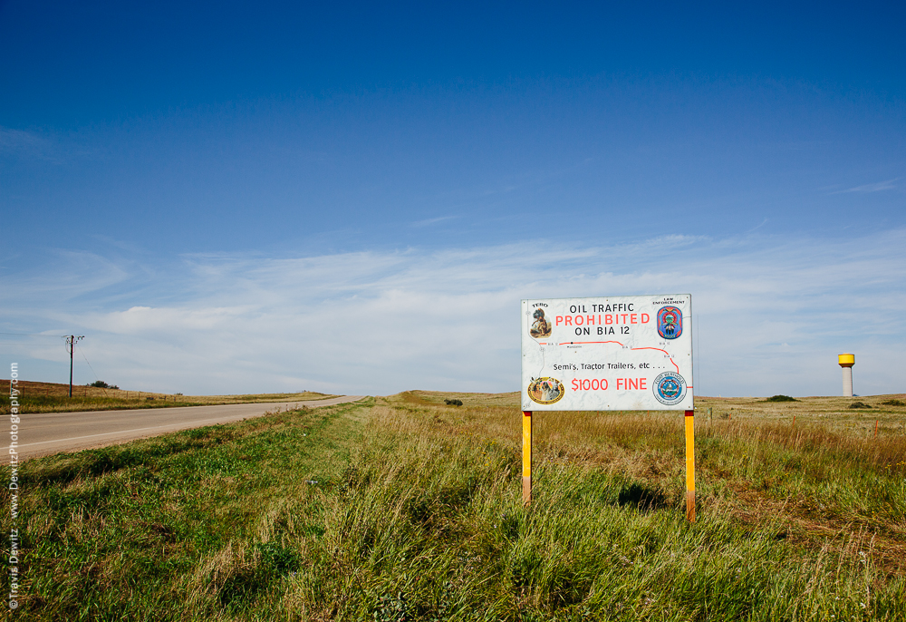 Oil Traffic Prohibited - Mandaree, ND
