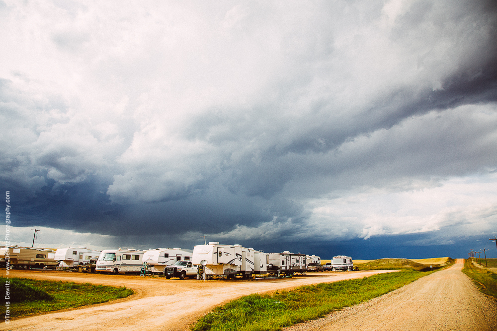 Storm Hits Oil Worker Camp Ground