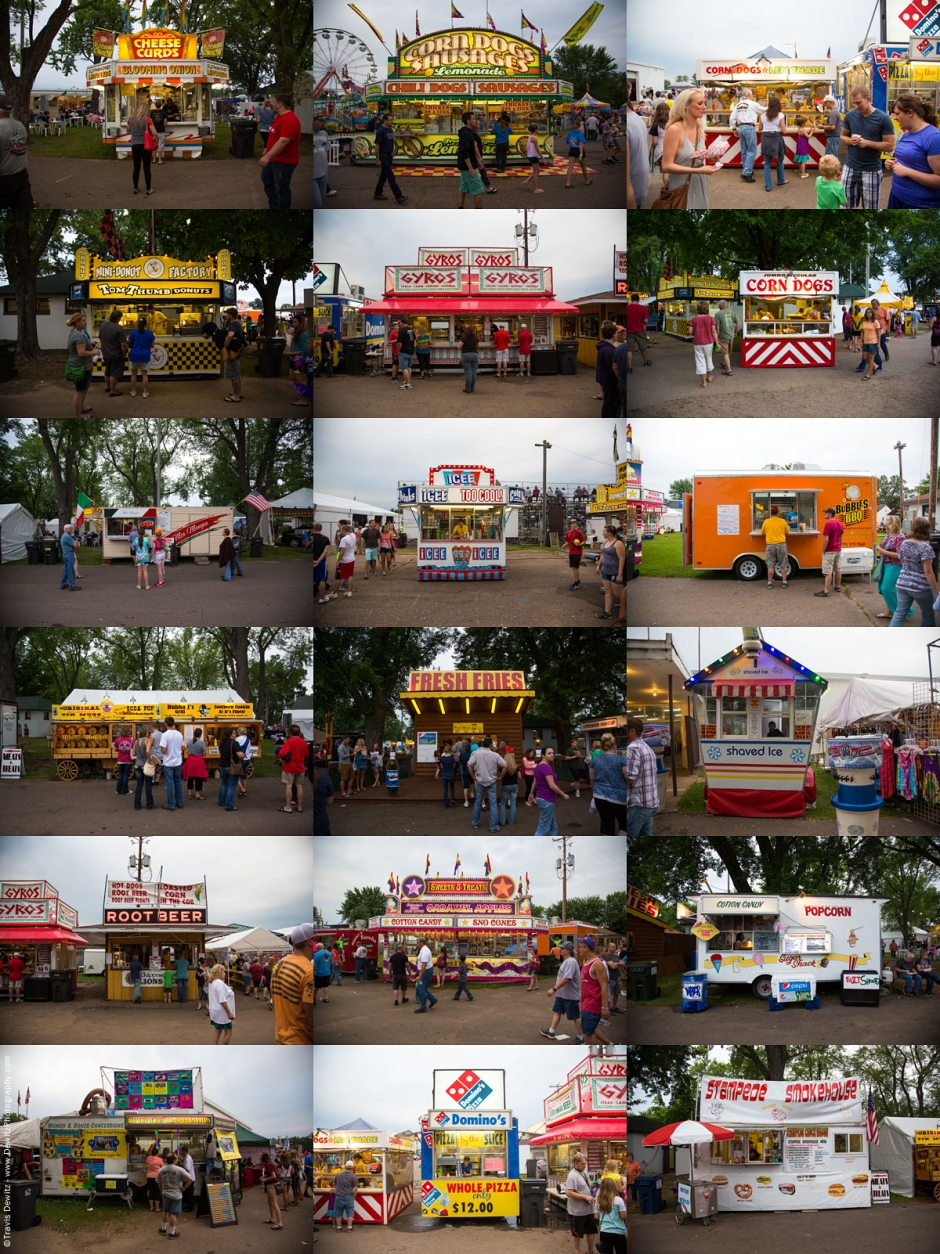 Carnival Food Stands Portraits Collage