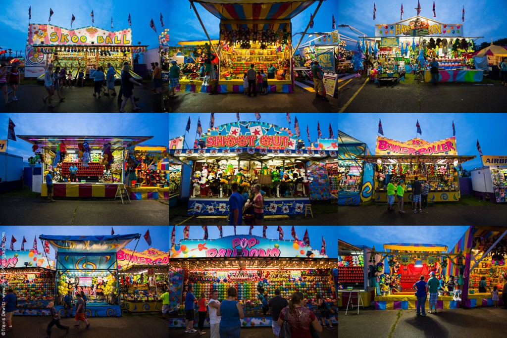 Portraits Of Carnival Games And Food Stands