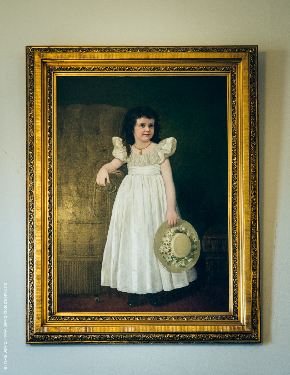 Douglas County Historical Society Historic Superior Wisconsin Painting Young Daughter in Gold Frame