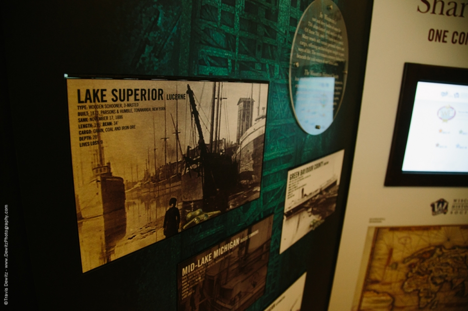 Douglas County Historical Society  Wisconsin History Tour Lake Superior Lucerne Lake Boat Display