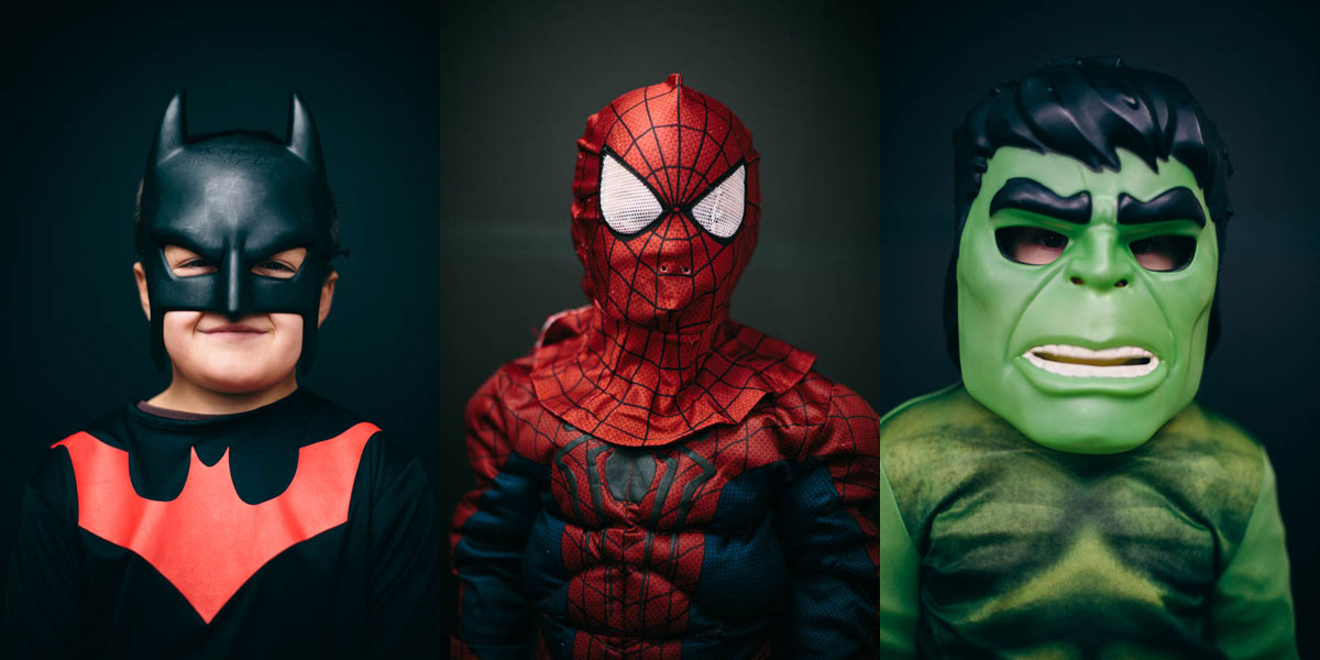 Halloween-Costume-Portrait-batman-spiderman-hulk
