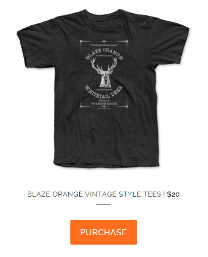Purchase Blaze Orange Vitage Deer Hunting Shirt
