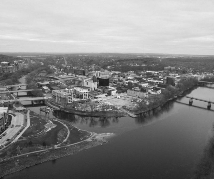 No. 0041 - Confluence of the Eau Claire and Chippewa Rivers - Eau Claire, Wis.