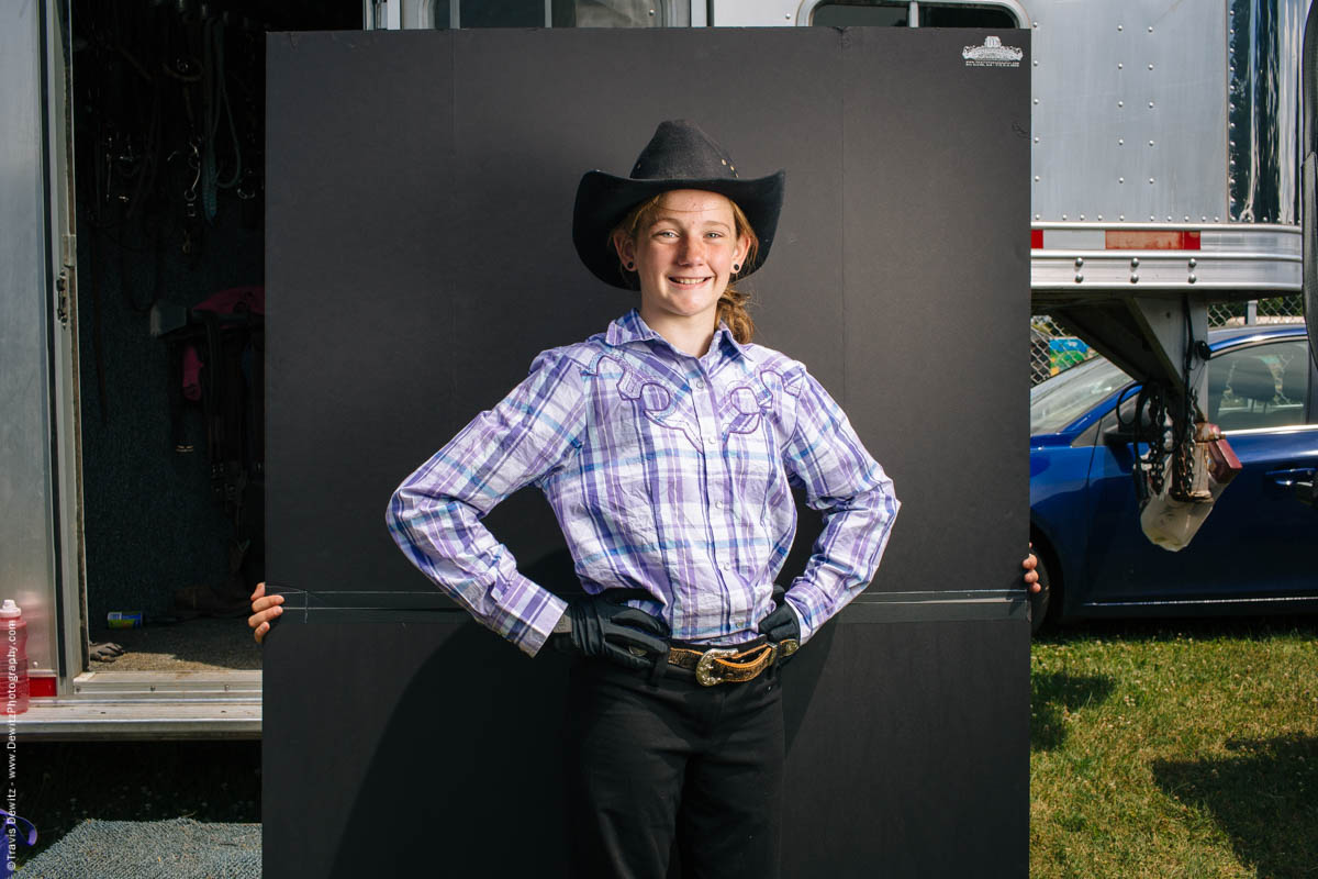 young-girl-western-outfit-portrait-horse-trailer-northern-wisconsin-state-fair-1995