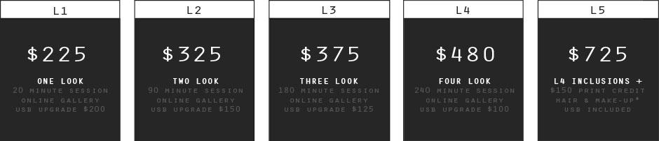 Photography Price Rates 2
