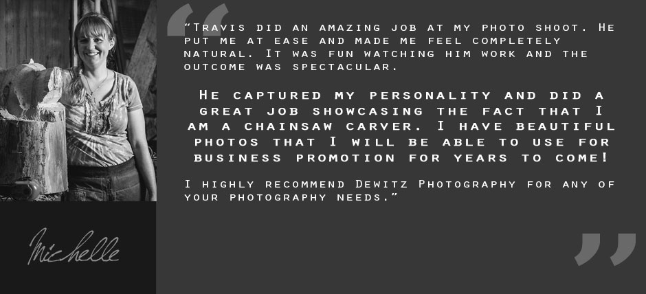 Client Testimonial Quote Michelle Wood Carver Gray