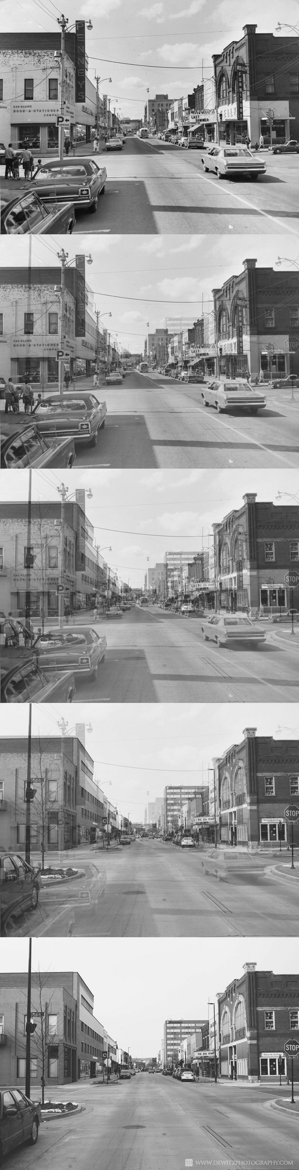 Looking Down Barstow Street Downtown Eau Claire
