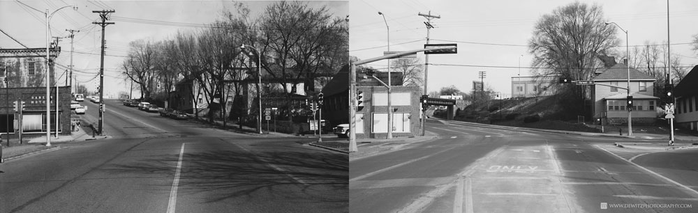 Madison Street Hill Eau Claire Wis Side by Side